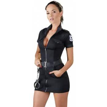 Costume Robe Policière Noire